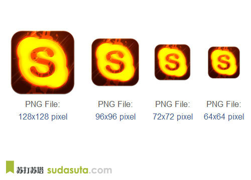 Skype图标<br /> http://www.iconarchive.com/show/hot-burning-social-icons-by-graphics-vibe/skype-icon.html