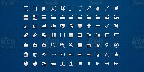 像素UI图标集<br /> http://www.icondeposit.com/theicondeposit:21
