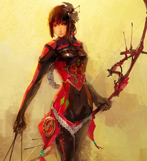 弓箭手女孩<br /> http://masway.deviantart.com/art/archer-girl-131737672