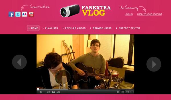 七彩的Blog /博客的布局设计 http://psd.fanextra.com/tutorials/design-a-colorful-vlogging-web-layout/