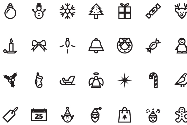 免费圣诞图标<br /> http://dribbble.com/shots/798012-Free-Christmas-Icons