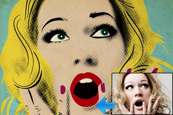 图像转换成卡通<br /><br /> http://abduzeedo.com/simple-roy-lichtenstein-style-illustrator-and-photoshop