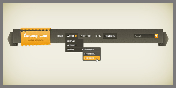 Dropdown Navigation Bar<br /> http://duckfiles.com/dropdown-navigation-bar-free-psd/