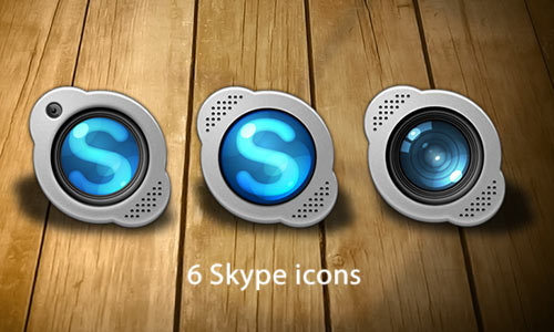 Skype的更换图标<br /> http://gianlucadivisi.deviantart.com/art/Skype-replacement-icons-184583830