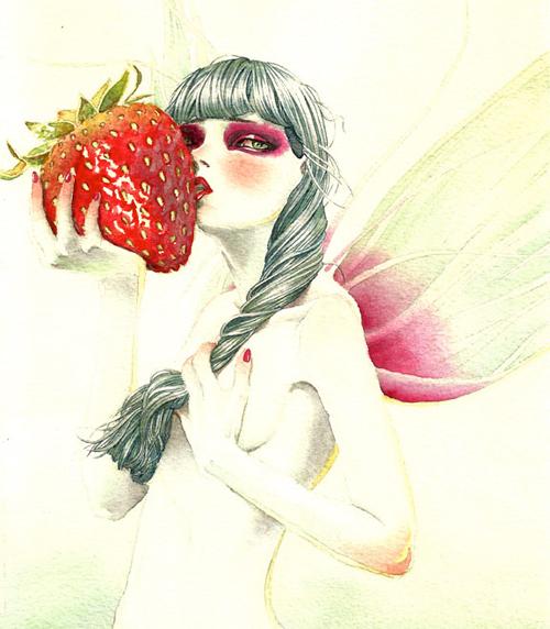 草莓仙子<br /> http://www.behance.net/gallery/Strawberry-Fairy/4270897
