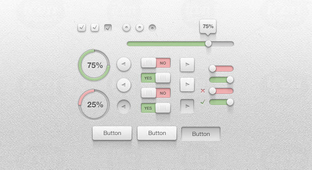 Crisp UI Kit<br /> http://www.icondeposit.com/design:65