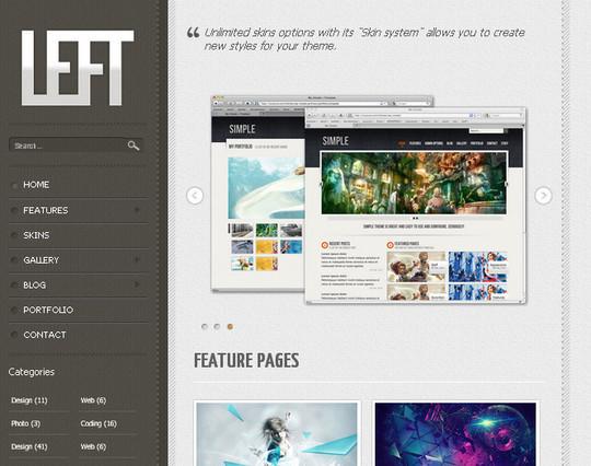 Demo:<br /> http://luiszuno.com/themes/left/<br /> Download:<br /> http://luiszuno.com/blog/downloads/left-template/