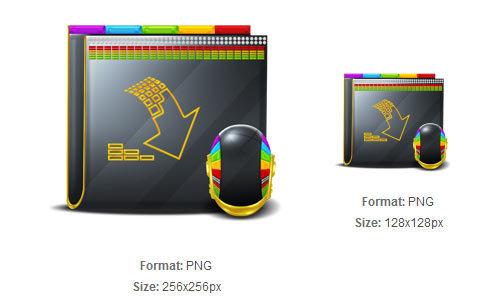 多彩的下载文件夹图标<br /> http://iconbug.com/detail/icon/1961/colorful-download-folder/