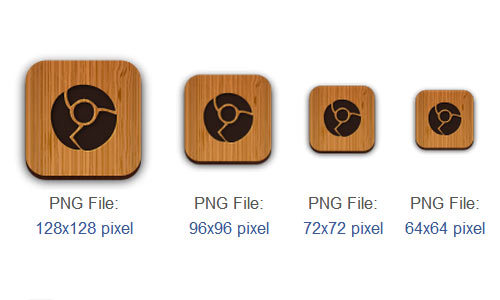 Chrome Icon<br /> http://www.iconarchive.com/show/wooden-social-icons-by-creativenerds/chrome-icon.html