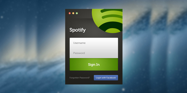 Spotify的登录反弹<br /> http://dribbble.com/shots/689691-Spotify-Login-Rebound/attachments/62573