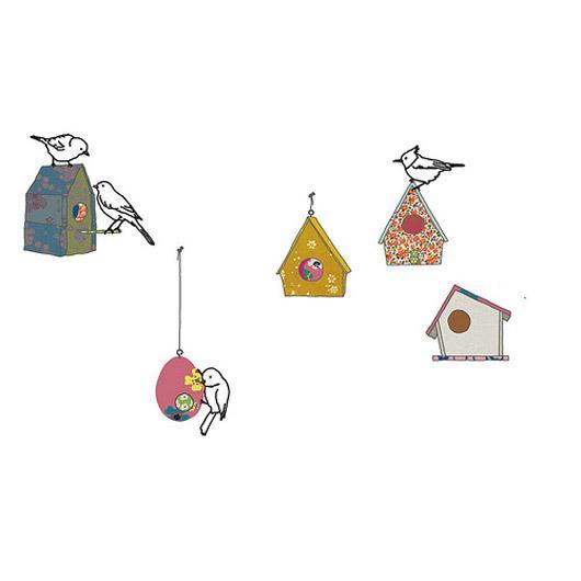 Mimi Lou birds and birdbox wall sticker 1