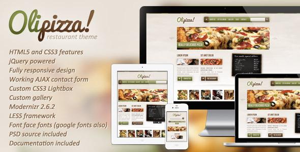 Olipizza ecommerce template