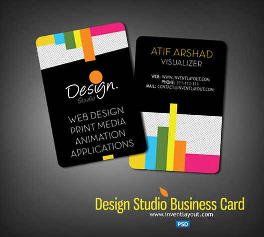 PSD Design Studio Business Card (PSD)