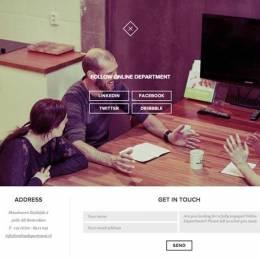 联系我们表单页面设计欣赏