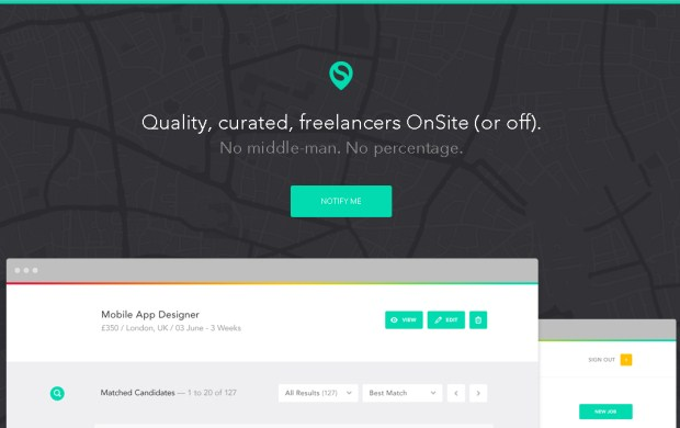 OnSite is a marketplace for designers.