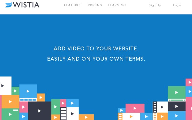 Wistia is a video sharing site that contains flat web design.