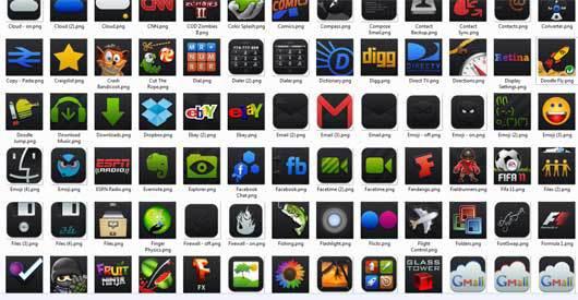 Black'Ups Android的图标<br /> http://iride113.deviantart.com/art/Black-Ups-Icons-for-Android-245980973
