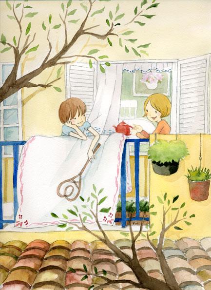 クリタエリコ 水彩插画童话
