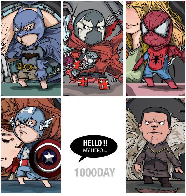 1000day (jang suk-woo) 超级英雄们!