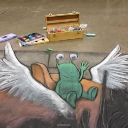 David Zinn 街头绘画欣赏