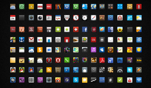 Android的图标<br /> http://dongbear.deviantart.com/art/Icons-for-Android-By-knight-194973138