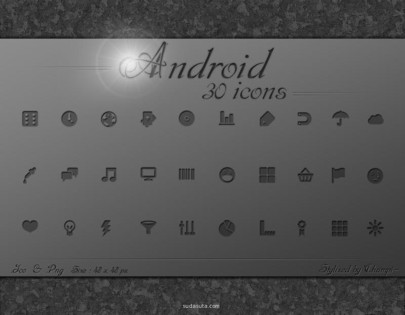 Android的图标<br /> http://champi-design.deviantart.com/art/Android-icons-174812881