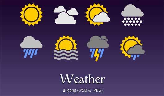 Android版本:天气图标<br /> http://bharathp666.deviantart.com/art/Android-Weather-Icons-180719113
