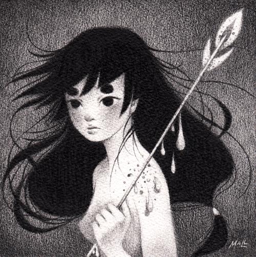 May Ann Licudine 黑白插画