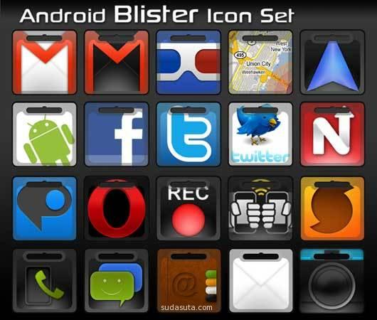 Android的吸塑图标集<br /> http://mhut.deviantart.com/art/Android-Blister-Icon-Set-185206706
