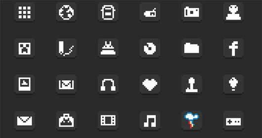 对于Android的8位图标<br /> http://lixr.deviantart.com/art/8-Bit-Icons-for-Android-255983802