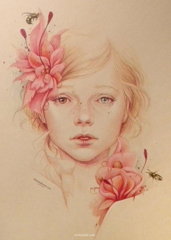 Jennifer Healy 清新铅笔画