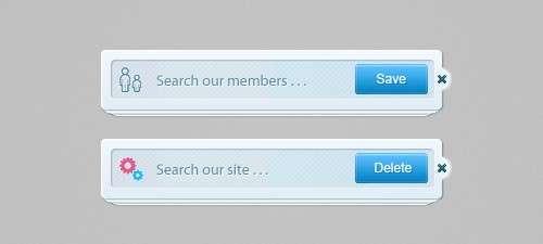 Soft Search Bar PSD