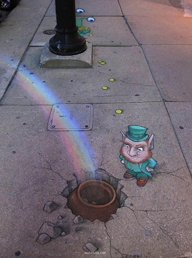 David Zinn 街头艺术