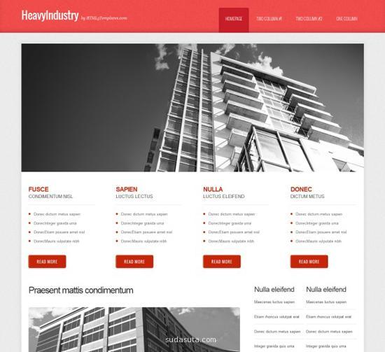 响应式网站模版