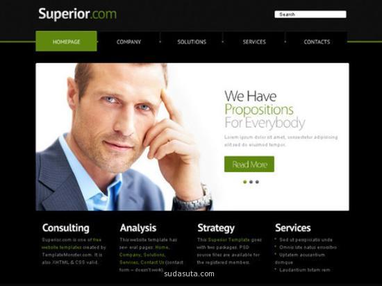 响应式网页设计模板