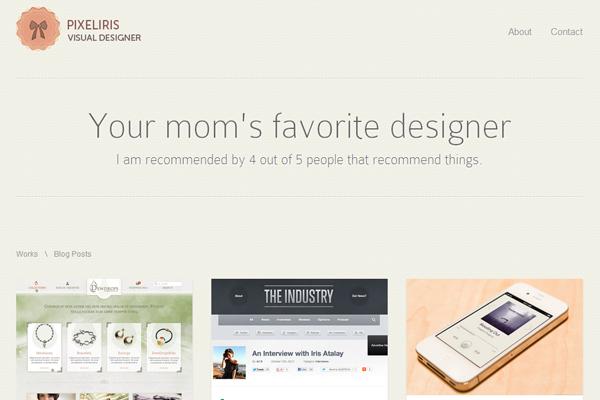 设计师个人网站欣赏
