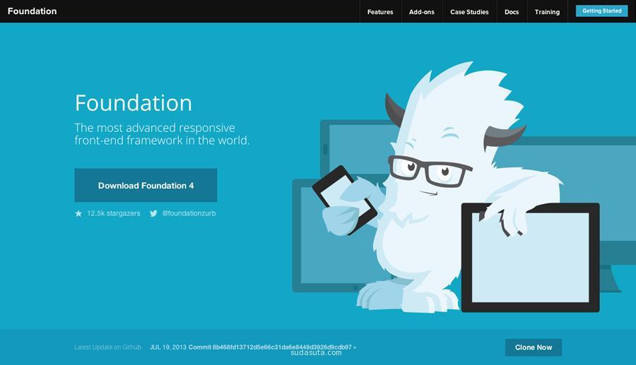 扁平化网页设计模板