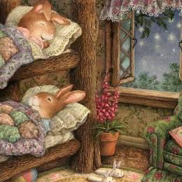 Susan Wheeler 可爱的兔子手绘插画