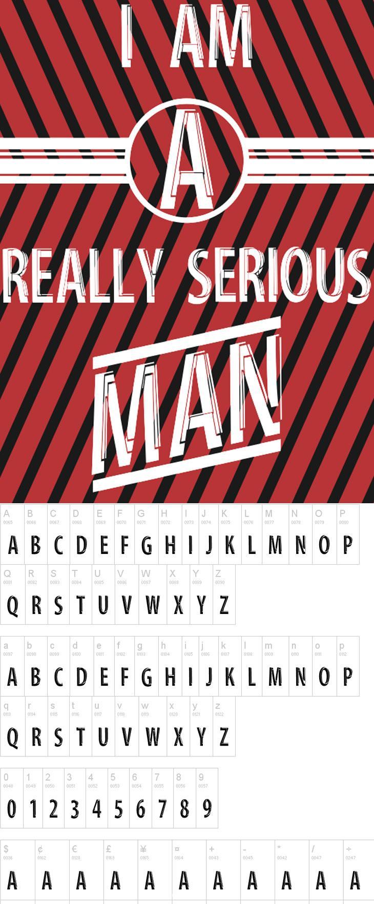 Serious-Man-Font