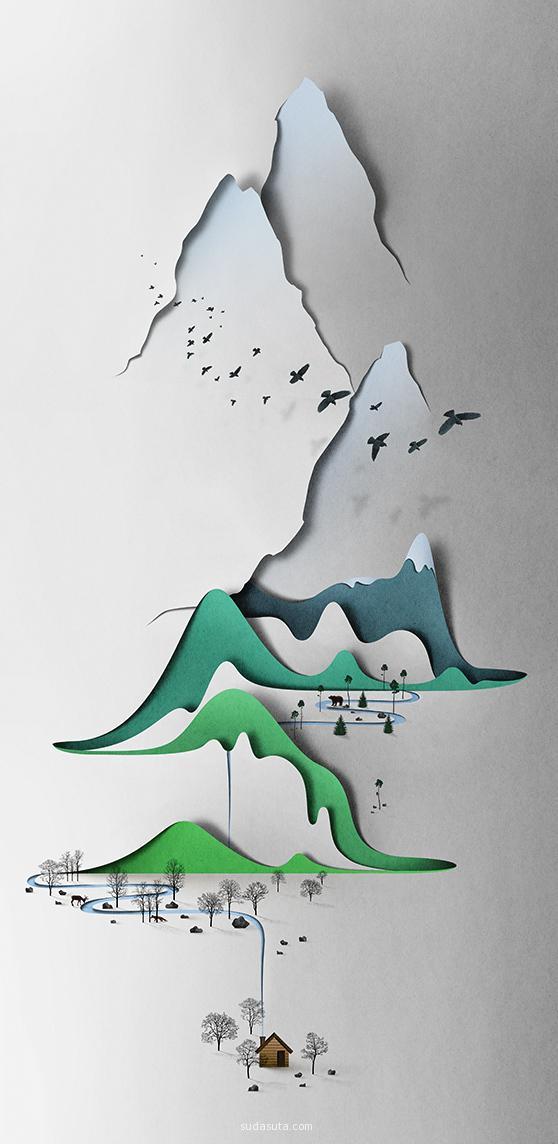 手工剪纸设计 Eiko Ojala