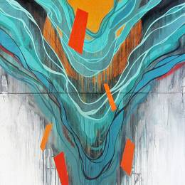 Erik Otto 喷溅的墙上艺术