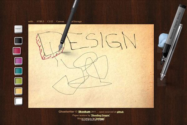 应用了canvas的创意网站