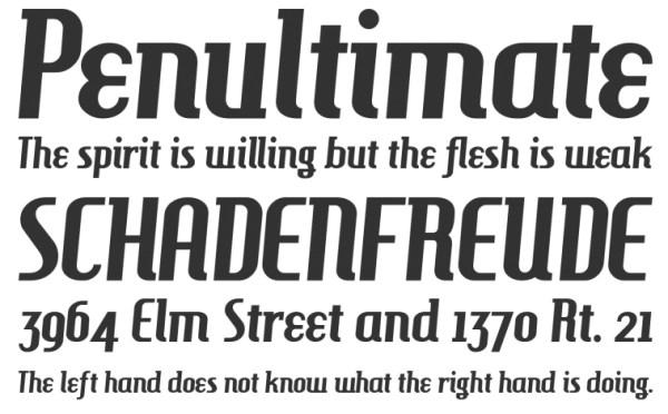 复古英文字体免费下载