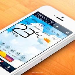 手机天气APP设计欣赏