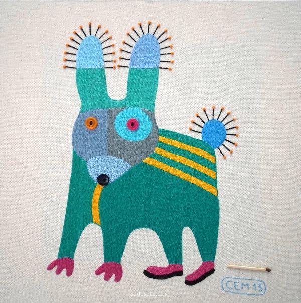 Ivan Semesyuk 细腻的手工刺绣卡通