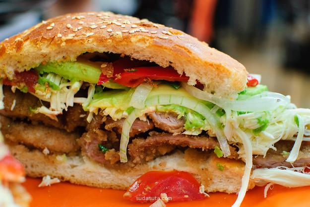 美食摄影 美味三明治