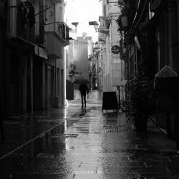 Francesco Medda 黑白色街道