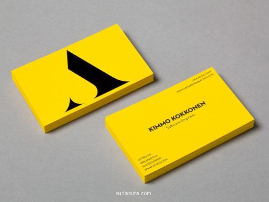 醒目的黄色名片欣赏