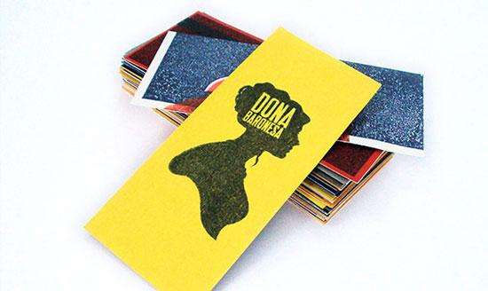 黄色创意名片设计欣赏