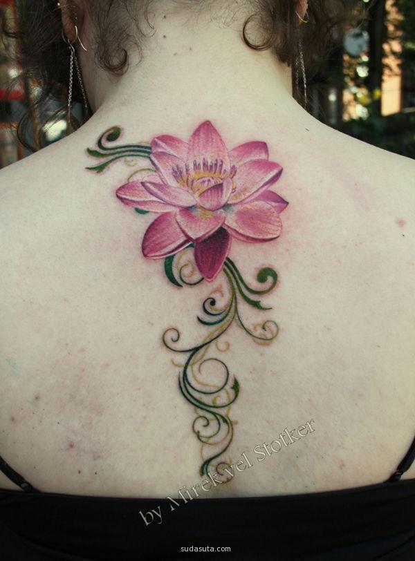 Lotustattoo Flower Stencil